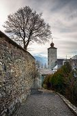 picture of brig  - Stockalper Citadel and Defence Wall in Brig Switzerland - JPG