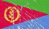 stock photo of eritrea  - Flag of Eritrea with old texture - JPG