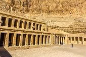 stock photo of hatshepsut  - Mortuary temple of Hatshepsut in Deir el - JPG