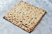pic of slavery  - Traditional Jewish Matzo sheet on a Passover Seder table - JPG