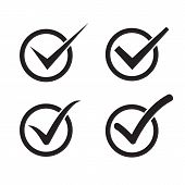 stock photo of check  - Set of check mark check box icons - JPG