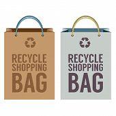 image of recycled paper  - Recycle Paper Bag Vector Illustration - JPG