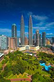 picture of petronas twin towers  - View of Kuala Lumpur skyline at daytime - JPG