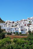 pic of pueblo  - View of the white town Mojacar Pueblo Almeria Province Andalusia Spain Western Europe - JPG