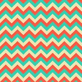 picture of chevron  - Seamless green and ivory chevron pattern geometric background - JPG