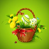 foto of gift basket  - Easter card with basket - JPG