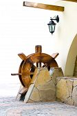 image of water-mill  - Wooden water mill as a decoration of the house - JPG