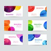 picture of dots  - Business cards templates - JPG