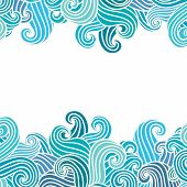 foto of aquamarine  - Hand drawn wavy modern background - JPG