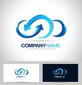 image of clouds  - Cloud Logo Design - JPG