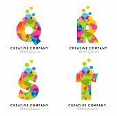 pic of letter  - Creative Alphabet Letters Logo - JPG