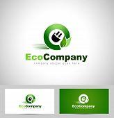 foto of electricity  - Eco Electricity Logo - JPG