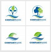 foto of tree leaves  - Trees and Leaves Logo Design - JPG