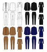 picture of blazer  - Vector set of women - JPG