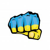 stock photo of fist  - vector fist icon - JPG