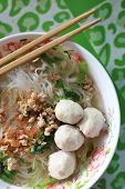 stock photo of thai food  - noodle of traditional thai food - JPG