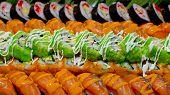 stock photo of buffet catering  - Closeup Japanese Cuisine  - JPG
