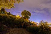 foto of serbia  - Belgrade fortress and Kalemegdan park at night Belgrade Serbia - JPG