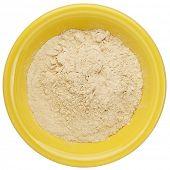 stock photo of ceramic bowl  - maca root powder  - JPG