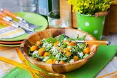 picture of butternut  - Delicious butternut squash arugula couscous and feta salad - JPG