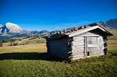 image of south tyrol  - Seiser Alm and Rosengarten in South Tyrol - JPG