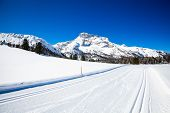 stock photo of south tyrol  - Winter landscape in South Tyrol with a lot of snow - JPG