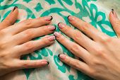 stock photo of  art  - Beautiful manicure nails - JPG