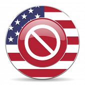 stock photo of denied  - access denied american icon original modern design for web and mobile app on white background  - JPG