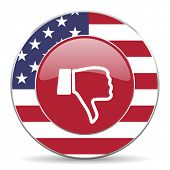foto of day judgement  - dislike american icon original modern design for web and mobile app on white background  - JPG