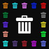 image of recycling bin  - Recycle bin icon sign - JPG