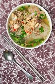 image of wanton  - Mien ga or vietnamese vermicelli with chicken meat - JPG