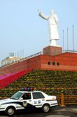 stock photo of zedong  - Status of Mao zedong in Sichuanwest of China - JPG