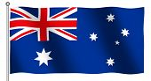 Flag of Australia waving (With Clipping Path)