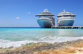 picture of west indies  - Cruise ships docked in Caicos Island - JPG