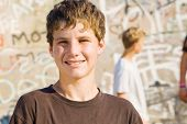 foto of teenage boys  - portrait of a young teen boy - JPG