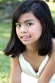 Asian Girl Outdoors poster