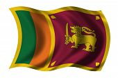 picture of sinhala  - Flag of Sri Lanka waving in the wind - JPG