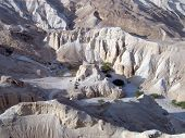 Ancient Fortress Neve Zohar - An Oasis In The Arava Desert On The Ancient Incense Path poster