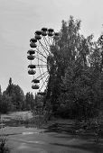 Постер, плакат: Ferris Wheel In Abandoned Ghost City Pripyat nothern Ukraine Pripyat Is An Abandoned City In Northe