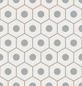Vector Seamless Pattern With Gray Pencil Ends poster