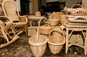Handmade Wicker Baskets, Large Selection Of Wicker Baskets poster