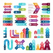 Colored Arrows For Design Projects Of Infographics. Visualizations Of Steps. Pictures For Business P poster