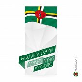 Постер, плакат: Vector Abstract Banner Template For Dominica Advertising Template With Flag Of Dominica
