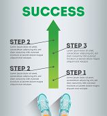Success. Business Infographic Template. Business Concept. Infographic Success. Steps Of Success. Ste poster
