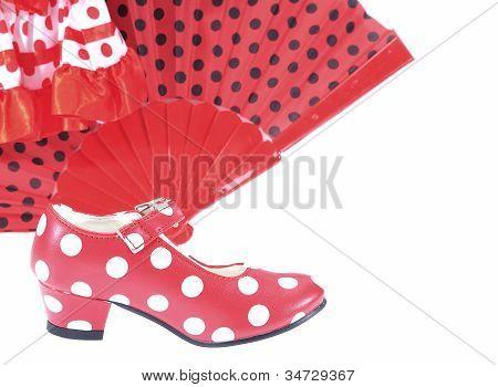 Постер, плакат: Горошек обувь , холст на подрамнике