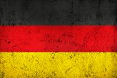 image of frazzled  - Grunge Dirty and weathered German Flag Old Metal Textured - JPG