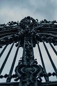 Huge Iron Gate And Entrance To The Garden Of The Baroque Residence In Würzburg, Germany poster