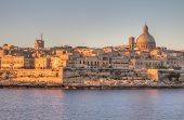 foto of olden days  - View of Valletta - JPG
