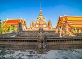 Angkor Wat Model With Phra Sawet Kudakhan Wihan Yot At Wat Phra Kaew (temple Of The Emerald Buddha)  poster