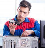 The data restoration specialist repairing corrupt hard drive poster